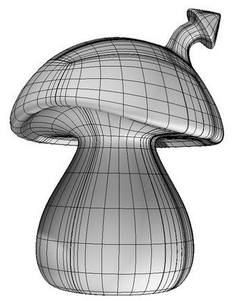 Mushroom house initial 3D surface