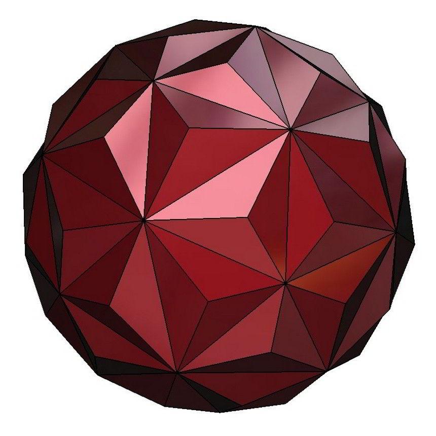Small Hexagonal Hexecontahedron 3D Model
