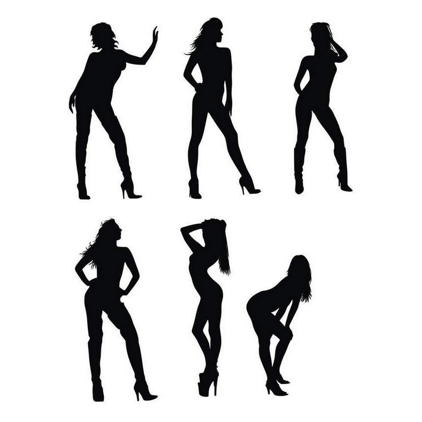 30 Woman Silhouettes (PNG Transparent) | OnlyGFX.com |Girl Silhoutte