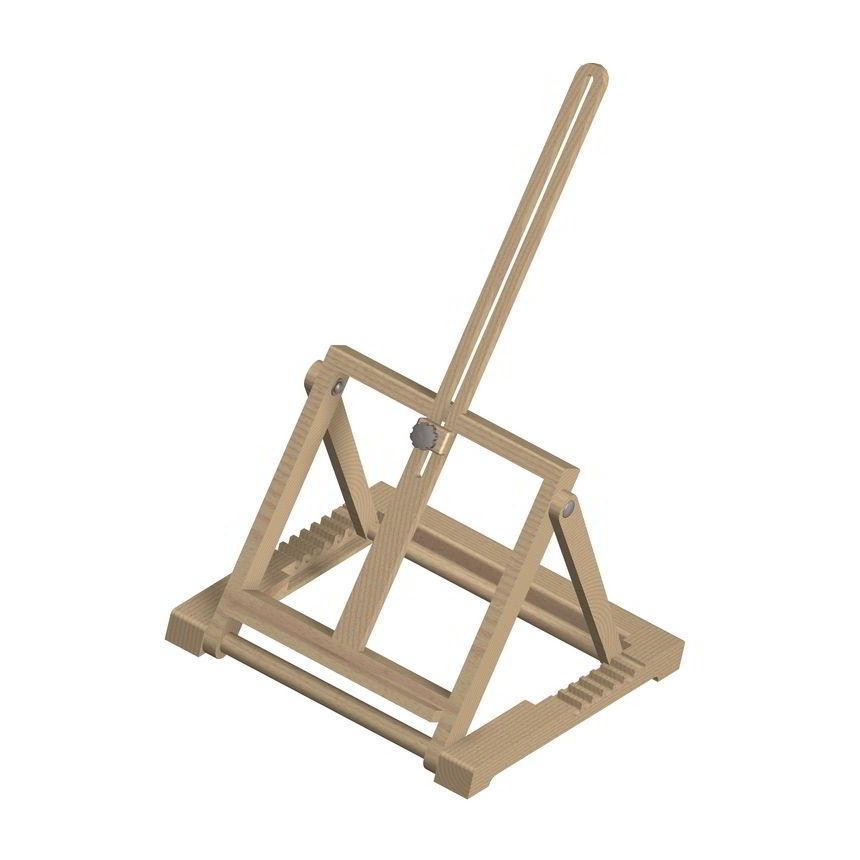H Frame Folding Tabletop Easel Plan