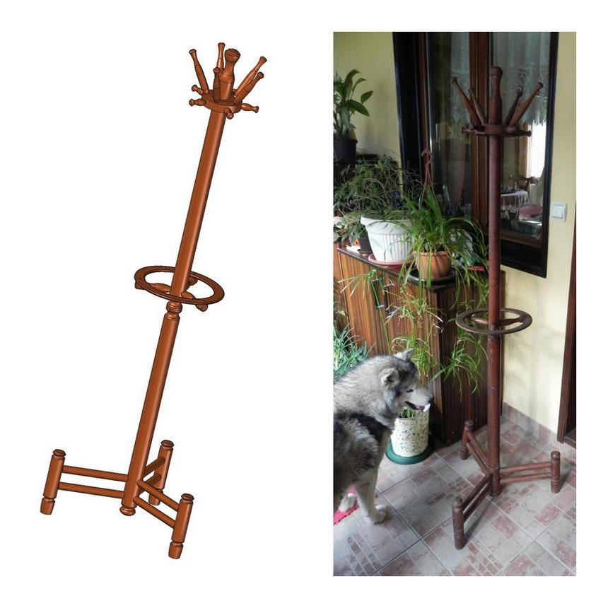 coat_stand_with_umbrella_holder_plan Umbrella Coat Rack