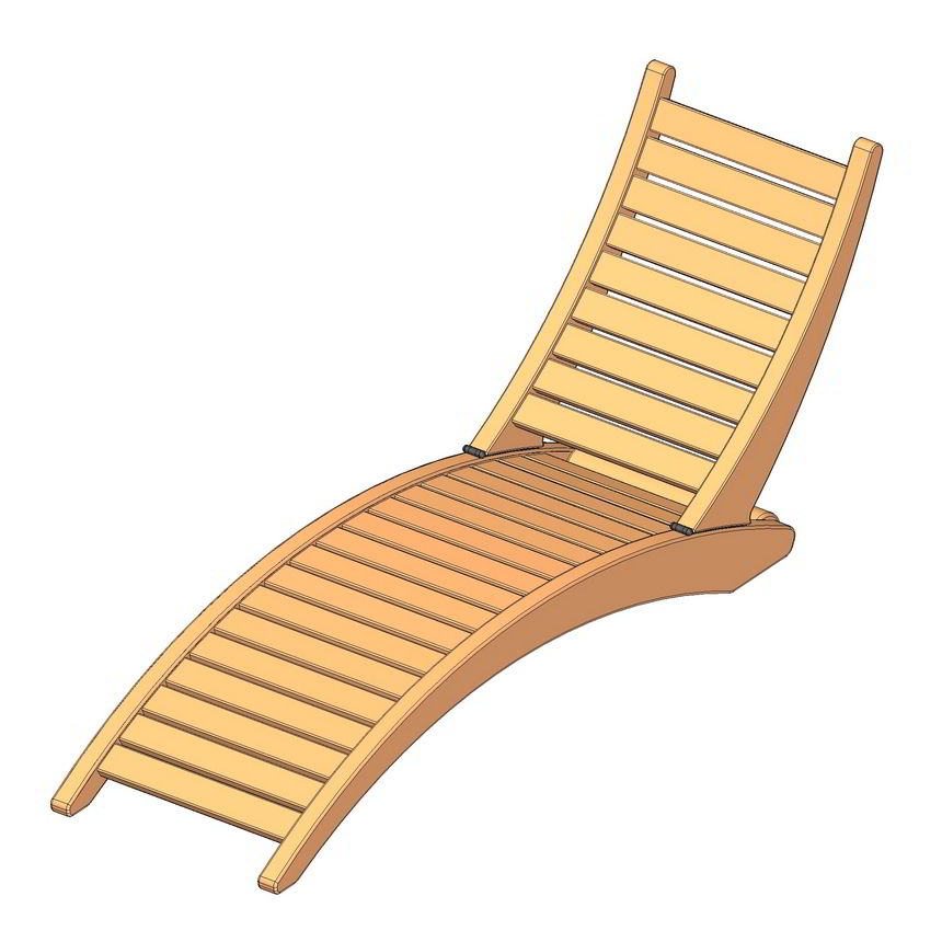 Folding Sun Lounger Plan