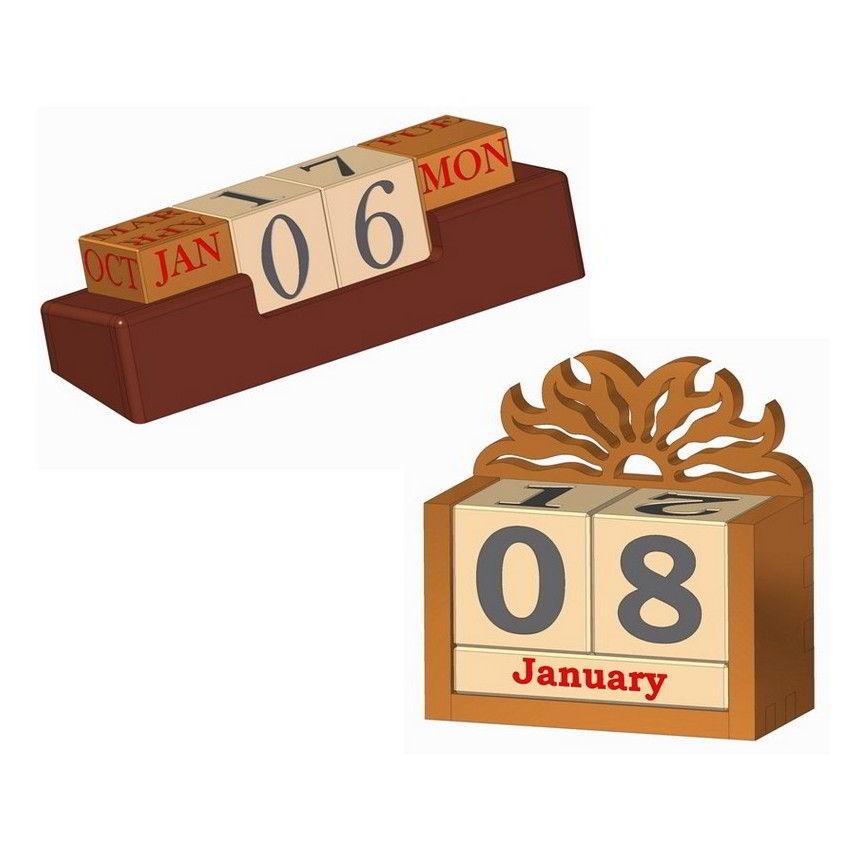 Wooden Perpetual Calendar Plan