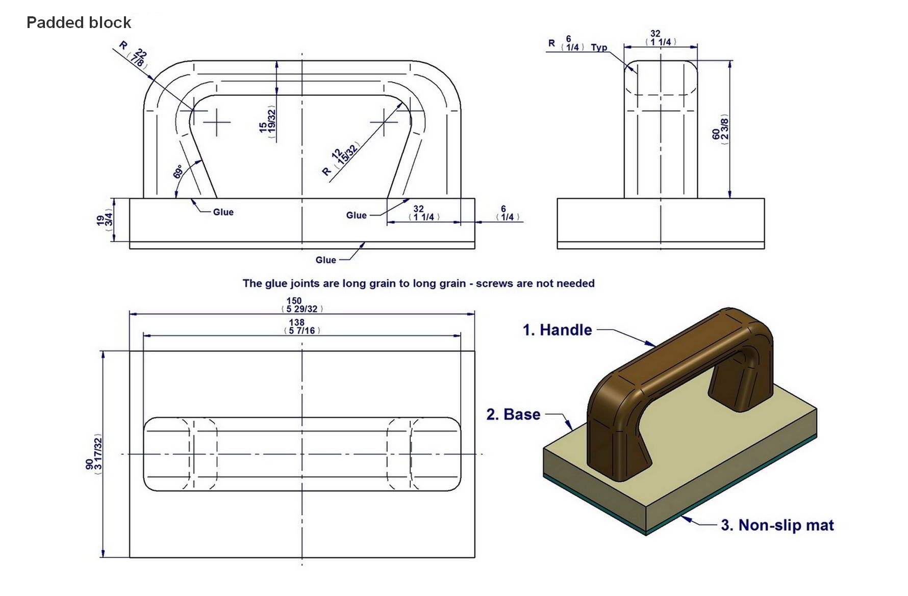 graphic regarding Table Saw Push Stick Printable Template called Drive adhere and drive block programs