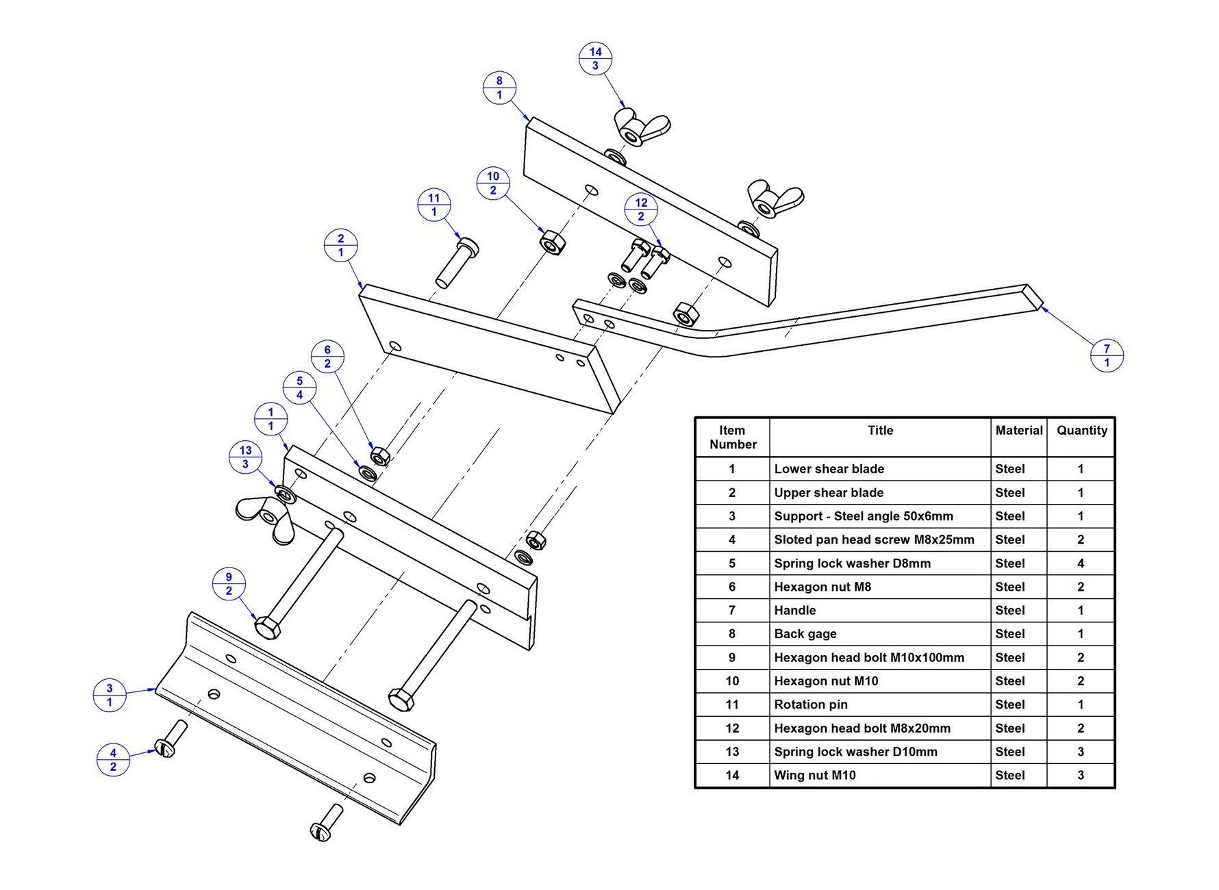 Sheet Metal Bench Shear