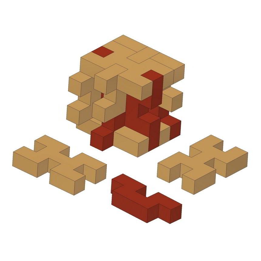 Simple Wooden 3D Puzzle Plan