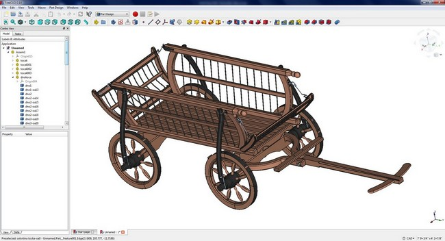 FreeCAD - Imported craftsmanspace 3D model