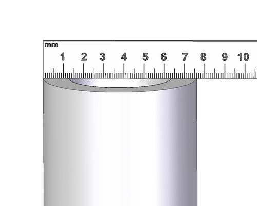 Measuring outside diameter of a pipe