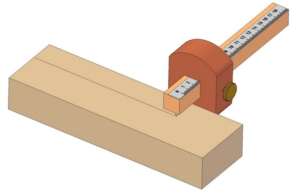 Marking gauge - Marking parallel lines