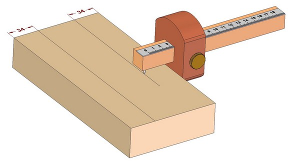Marking gauge - You can repeat marking as often as you wish