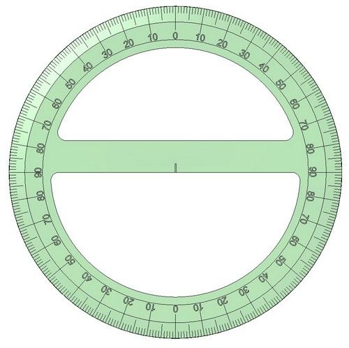 Tool For Measuring An Angle Or A Circle Protractor