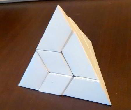 Completed pyramid puzzle