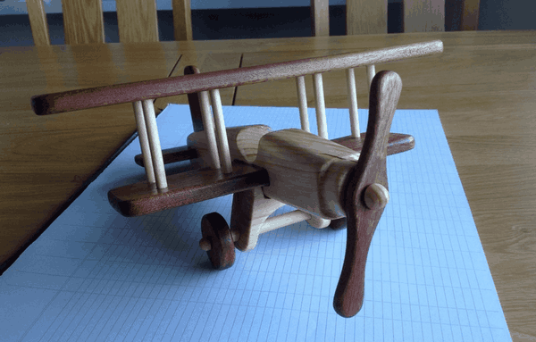 Finished biplane toy project