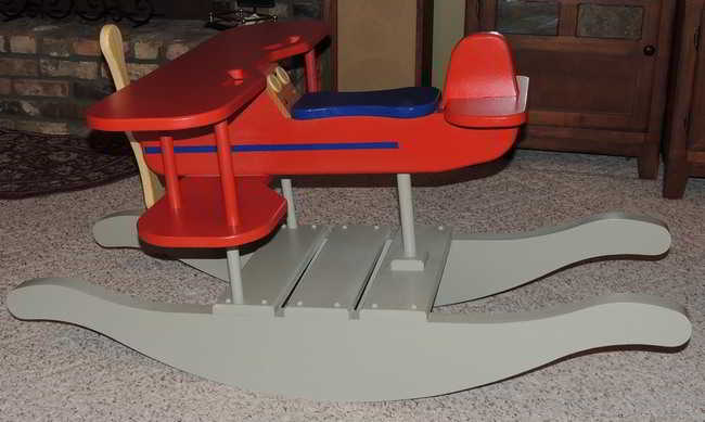 Rocking airplane made by Paul Sullivan