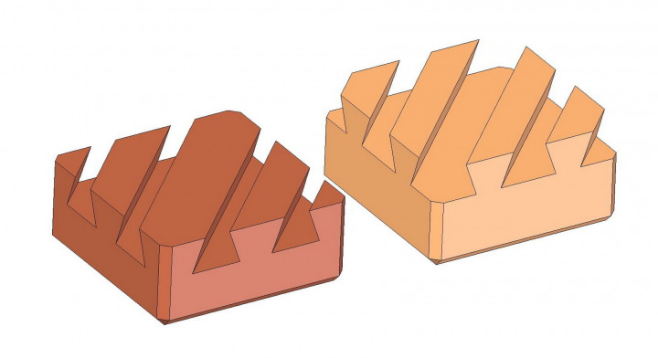 Double dovetail wooden puzzle - Solution