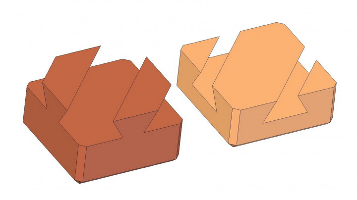 Dovetail wooden puzzle - Solution