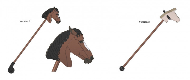 Hobby horse toy - Version 1 and 2
