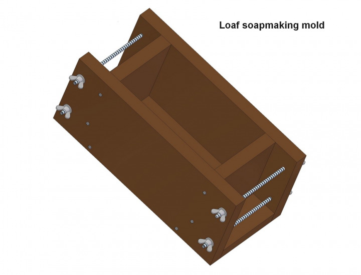 Loaf soapmaking mold plan