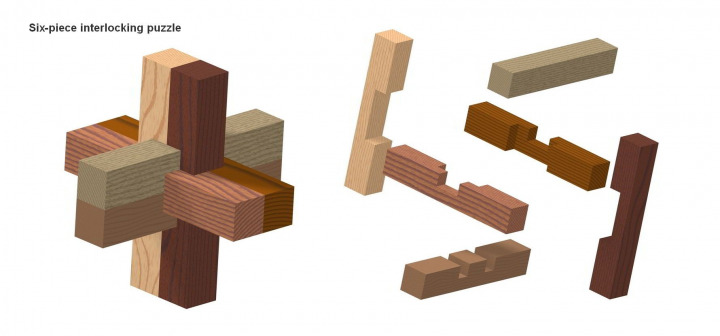 how to solve burr puzzle 6 pieces