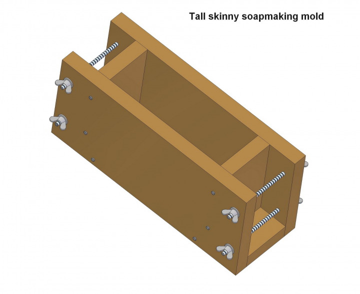 Tall skinny soapmaking mold plan