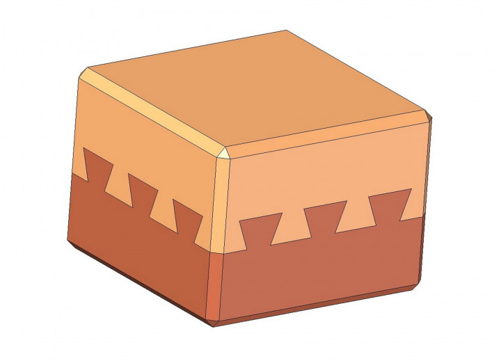 Triple dovetail wooden puzzle plan