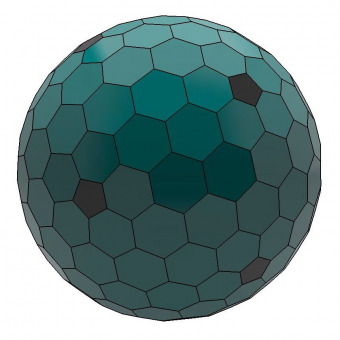 Dual geodesic icosahedron 8 3D model