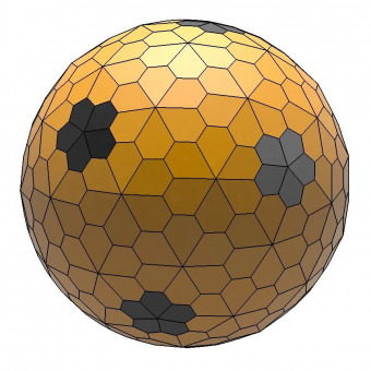 Dual snub hexpropello dodecahedron 3D model