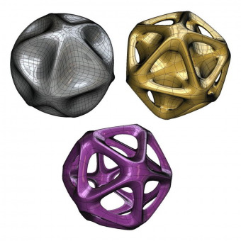 Math art 3D models based on great dodecahedron
