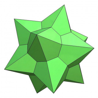 Medial rhombic triacontahedron 3D model