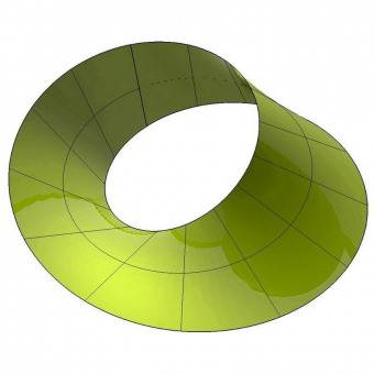 Mobius strip 3D surface