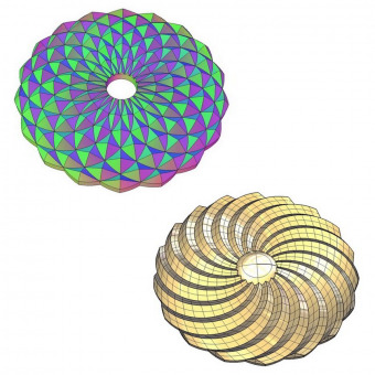 Round radial 3D decorative elements