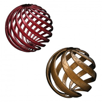 Spherical rind 3D shapes