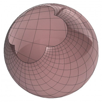 Stereographic sphere 3d surface