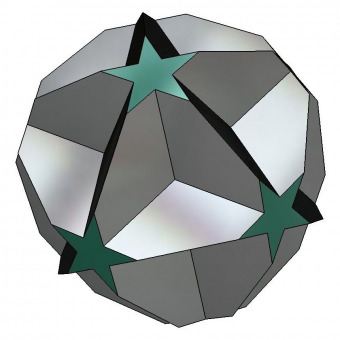 Truncated great dodecahedron 3D model