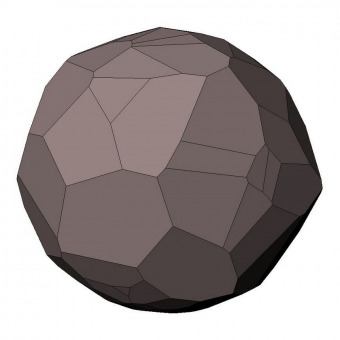 Voronoi sphere with planar surfaces