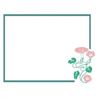Morning glory frame border