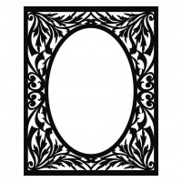 Scroll saw frame pattern