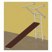 Press dip bars with adjustable sit up board plan