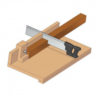 Sizing board jig for crosscut plan