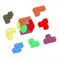 Make a Soma cube puzzle