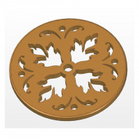Trivet with pattern plan