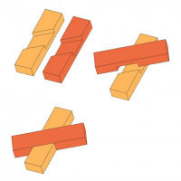 Angled cross half-lap joint