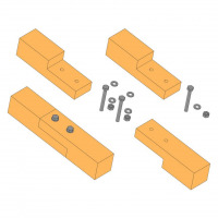 Bolted half-lap scarf joint