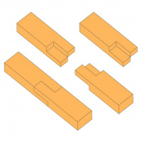 Double halved scarf joint