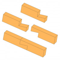 Dovetailed scarf joint