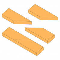 Edge to edge scarf joint