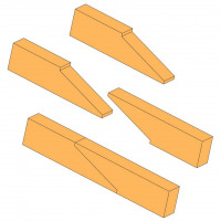 Tapered scarf joint