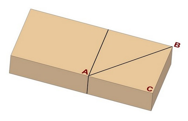Marking a miter joint - Method 2