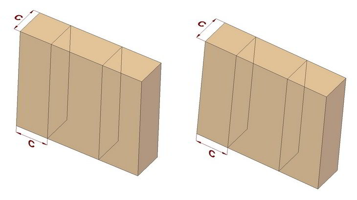 Dovetail joints - Gauge thickness upon side from ends